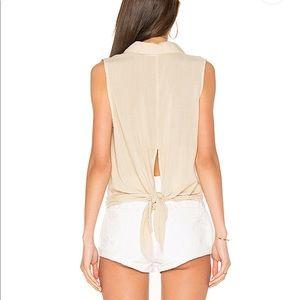 Bella Dahl button down tie back sleeveless NWOT